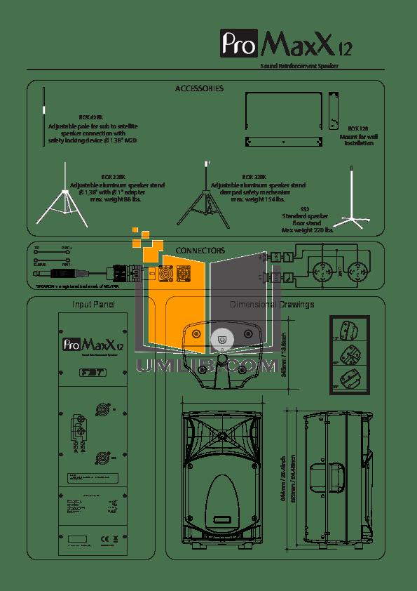PDF manual for Fbt Speaker Maxx 4A