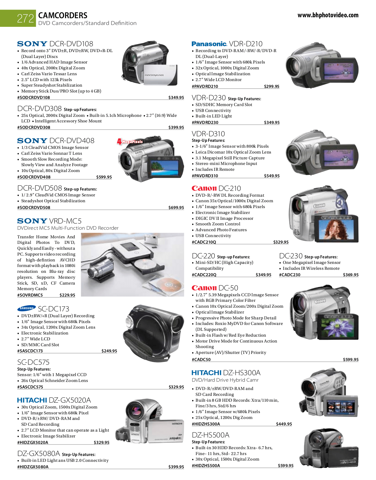 PDF manual for Sony Camcorders Handycam DCR-DVD108