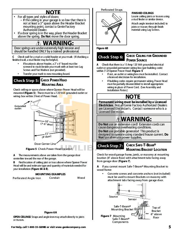 PDF manual for Genie Other ProMax Garage Door Opener