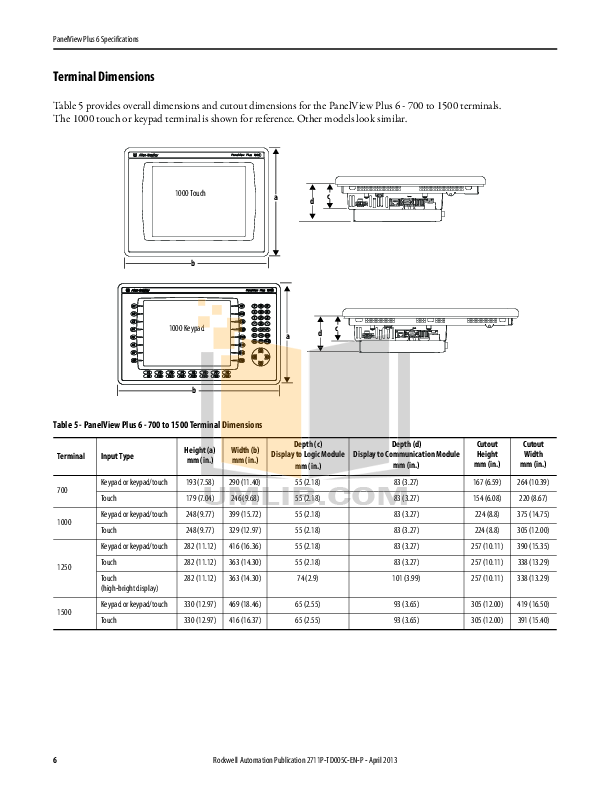 PDF manual for DigiPos Monitor TD1500