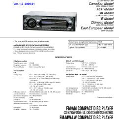 Sony Xplod Cdx Gt180 Wiring Diagram 2002 Trailblazer Radio Pdf Manual For Car Receiver Gt30w