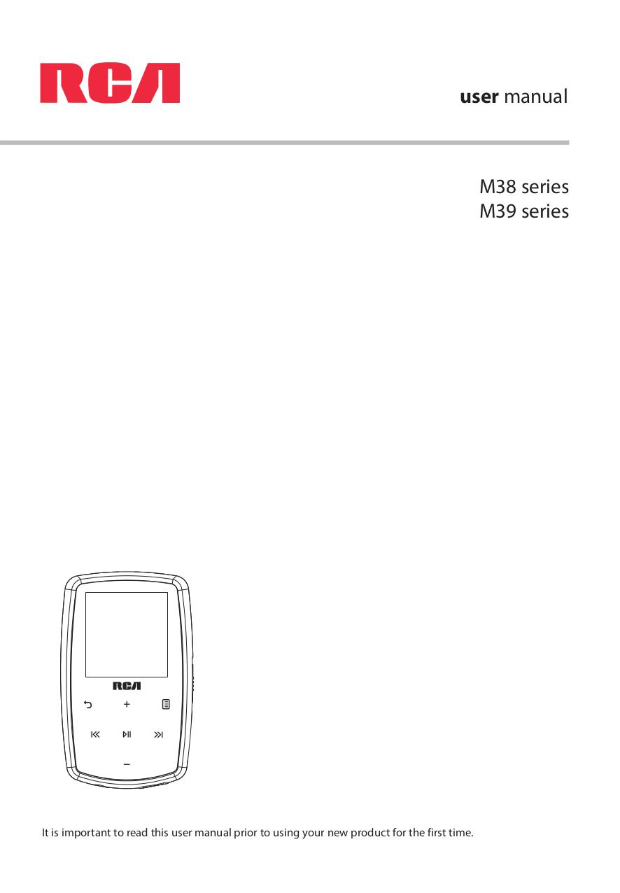 Download free pdf for RCA Lyra M3804 MP3 Player manual