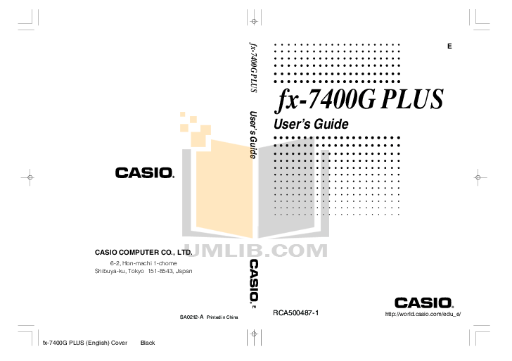 PDF manual for Casio Other FA-123 calculator-software