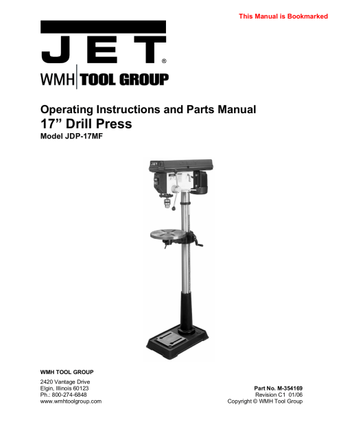 small resolution of pdf for jet other jdp 17mf drill press manual