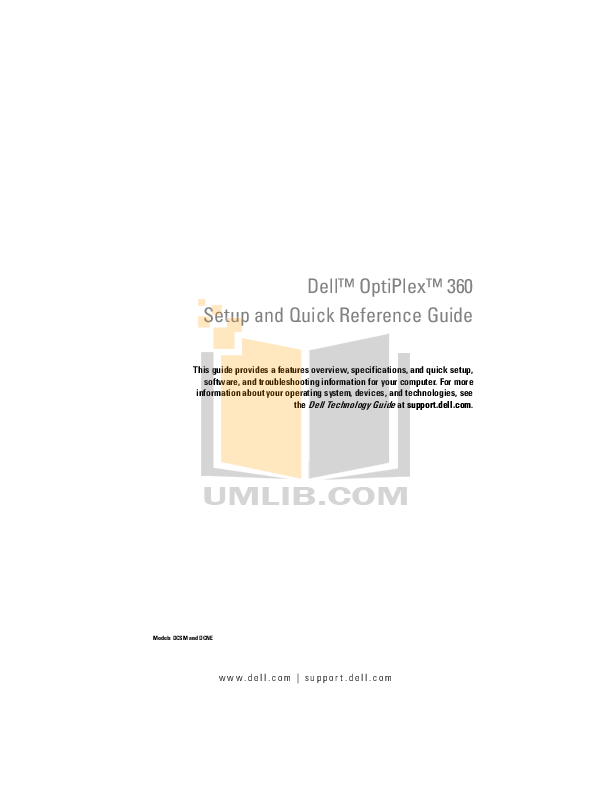Download free pdf for Dell OptiPlex 360 MT Desktop manual