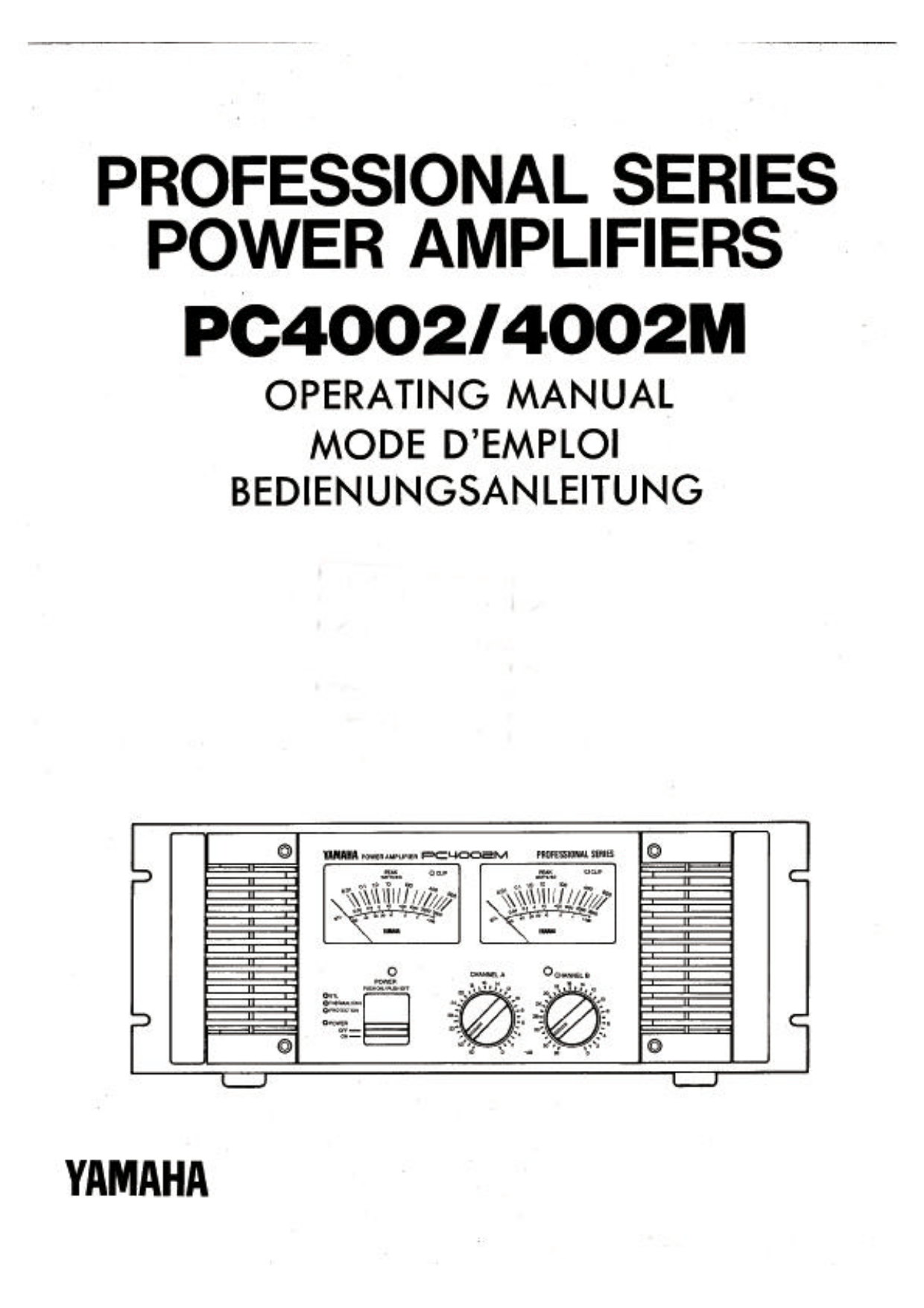 Download free pdf for Yamaha PC4002M Amp manual
