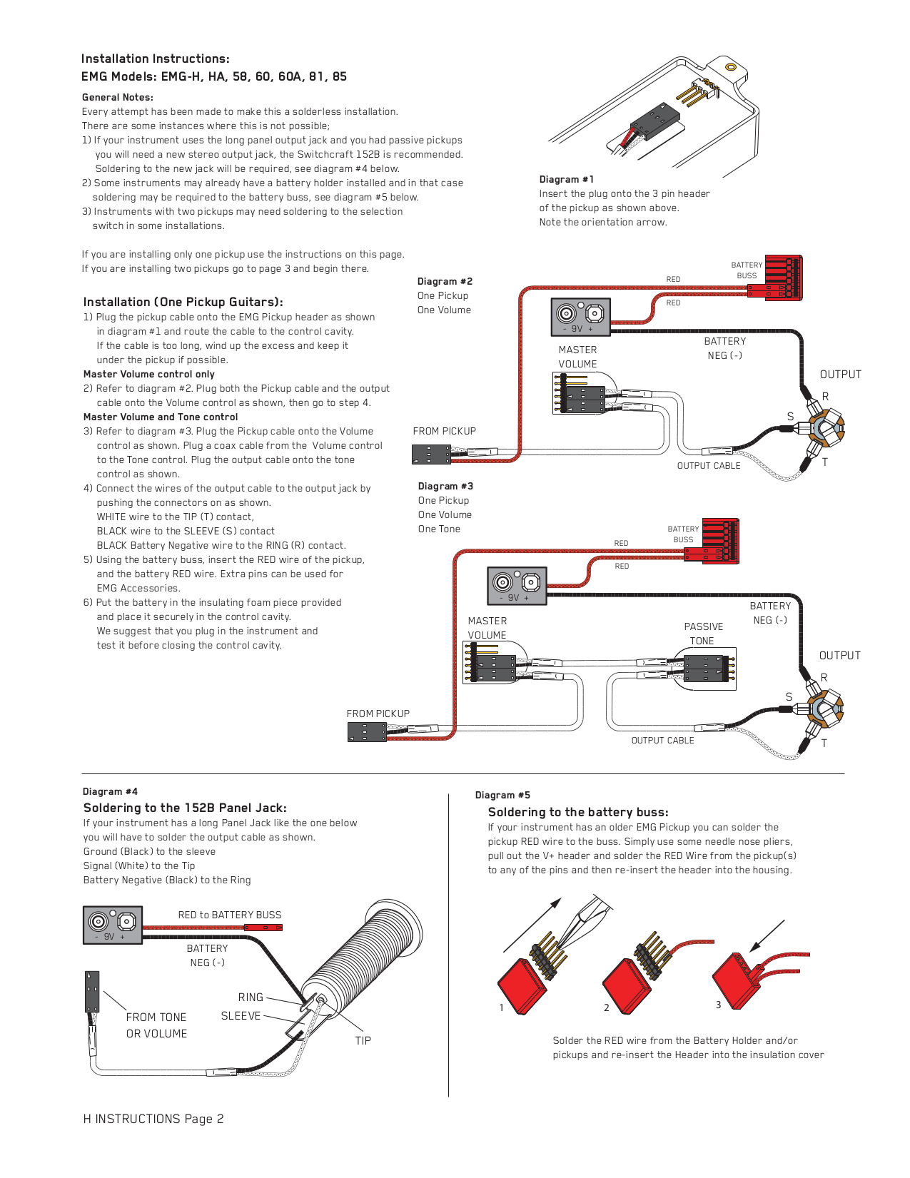 electric guitar wiring diagrams emg simple flow charts, Wiring diagram