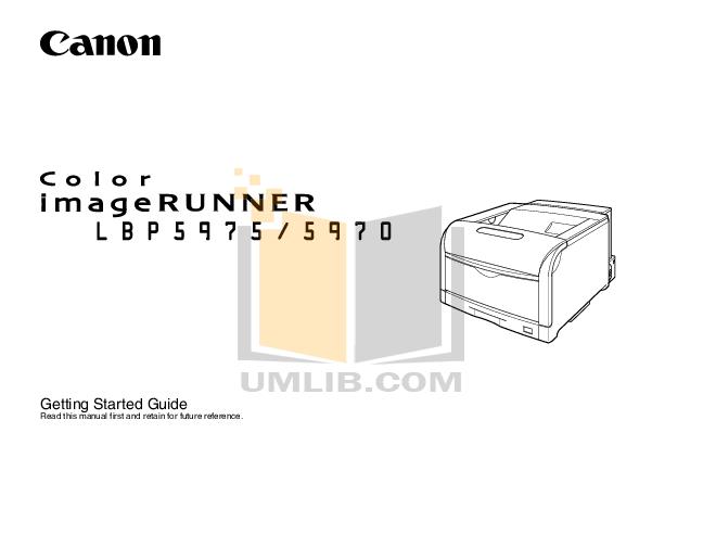 Download free pdf for Canon imageRUNNER LBP-5960 Printer