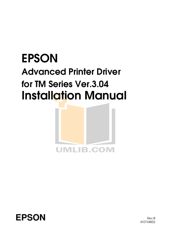 Download free pdf for Epson TM-U675 Printer manual