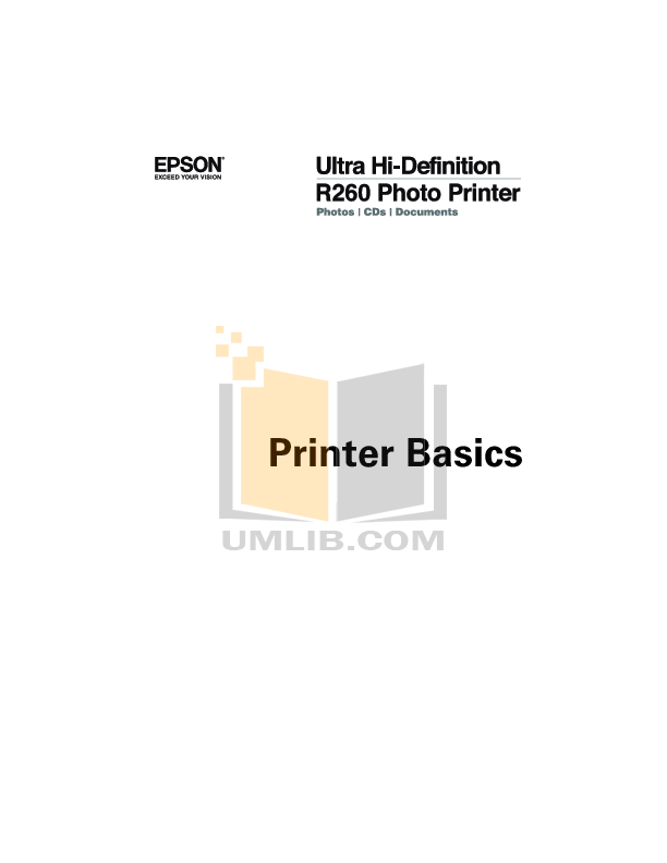 Download free pdf for Epson Stylus Photo R260 Printer manual