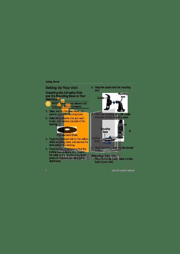 PDF manual for Garmin GPS Nuvi 465