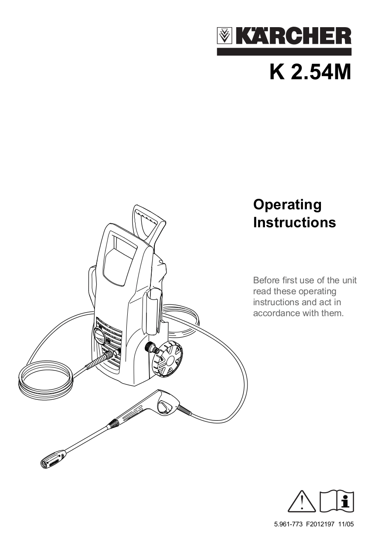 Download free pdf for Karcher K 2.54 M Pressure Washers
