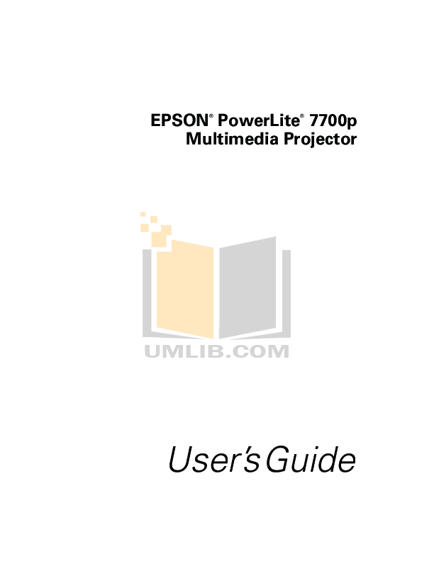 Download free pdf for Epson PowerLite 78 Projector manual