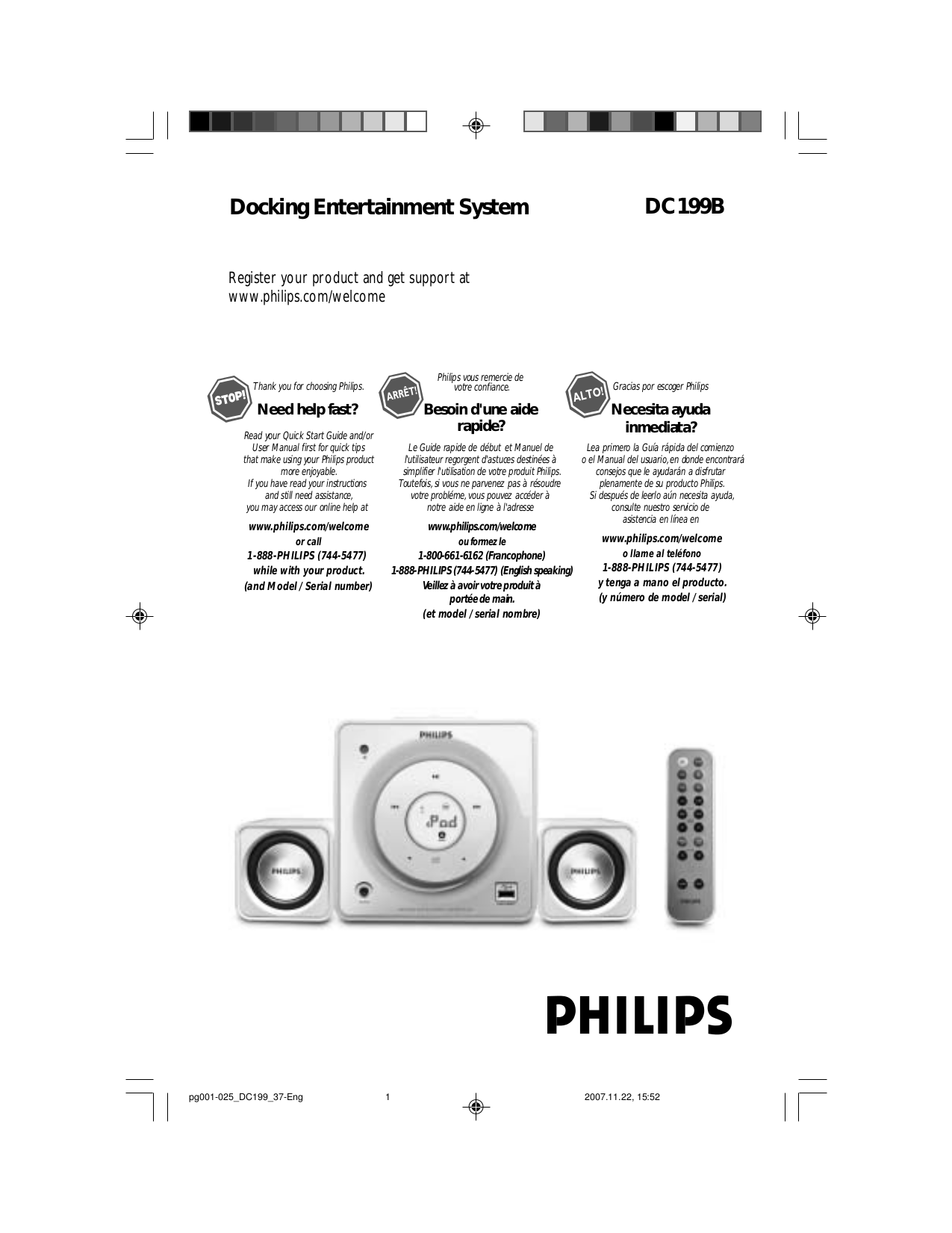Download free pdf for Philips DC199B Clock Radio manual