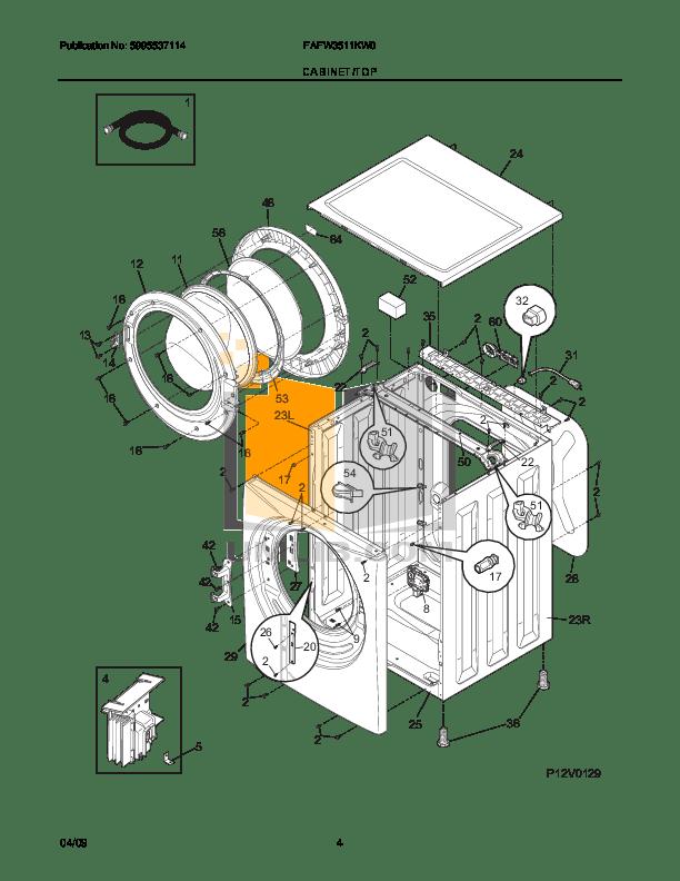 PDF manual for Frigidaire Washer Affinity FAFW3511K