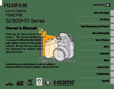 Download free pdf for FujiFilm Finepix 2800 Digital Camera
