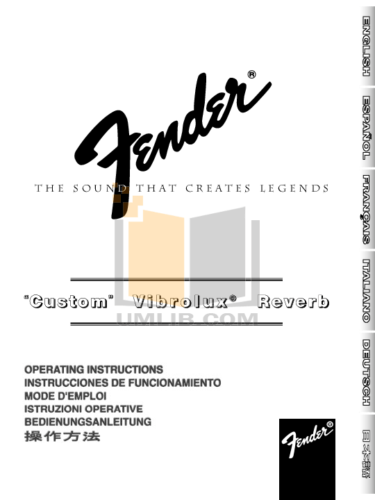 Download free pdf for Fender Custom Vibrolux Reverb Amp manual
