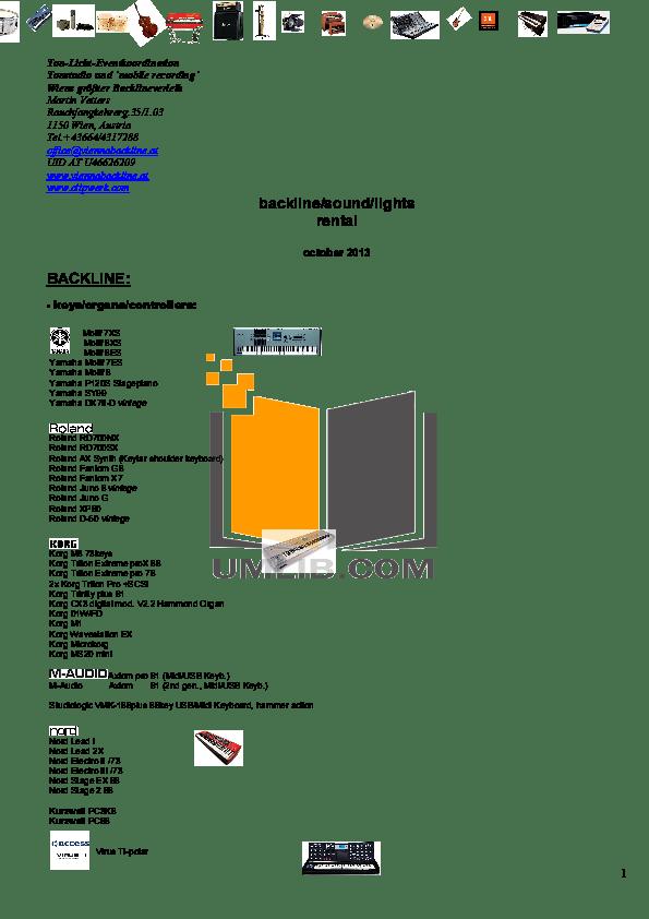 Download free pdf for Fender Custom Vibrolux Reverb Amp manual