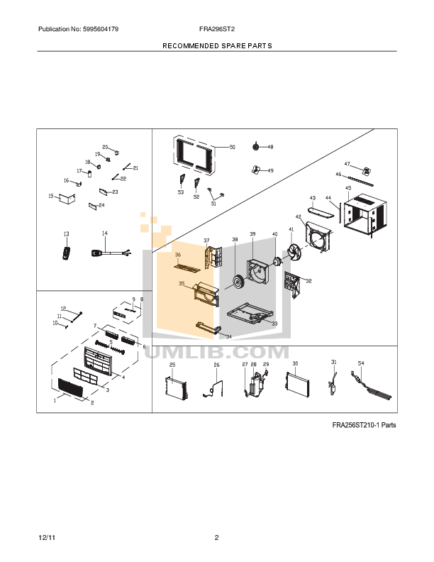 PDF manual for Frigidaire Air Conditioner FRA296ST2