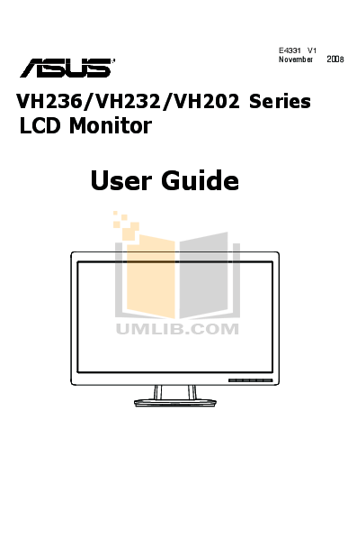 Download free pdf for Asus VH232H Monitor manual