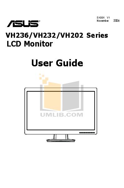 Download free pdf for Asus VH232H Monitor manual