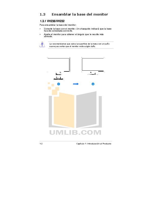 PDF manual for Asus Monitor VH232H