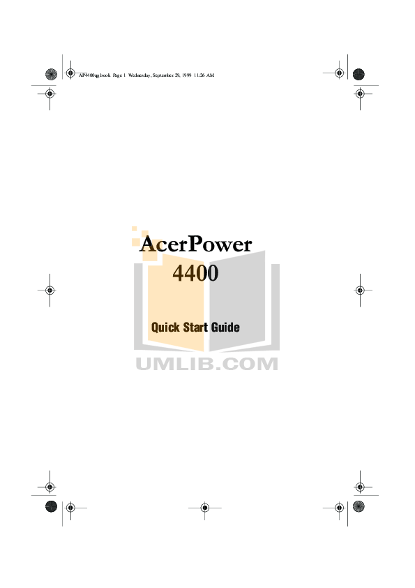 Download free pdf for Acer AcerPower 6400 Desktop manual