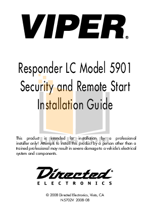 Download free pdf for DEI Viper 210HV Car Alarms Other manual