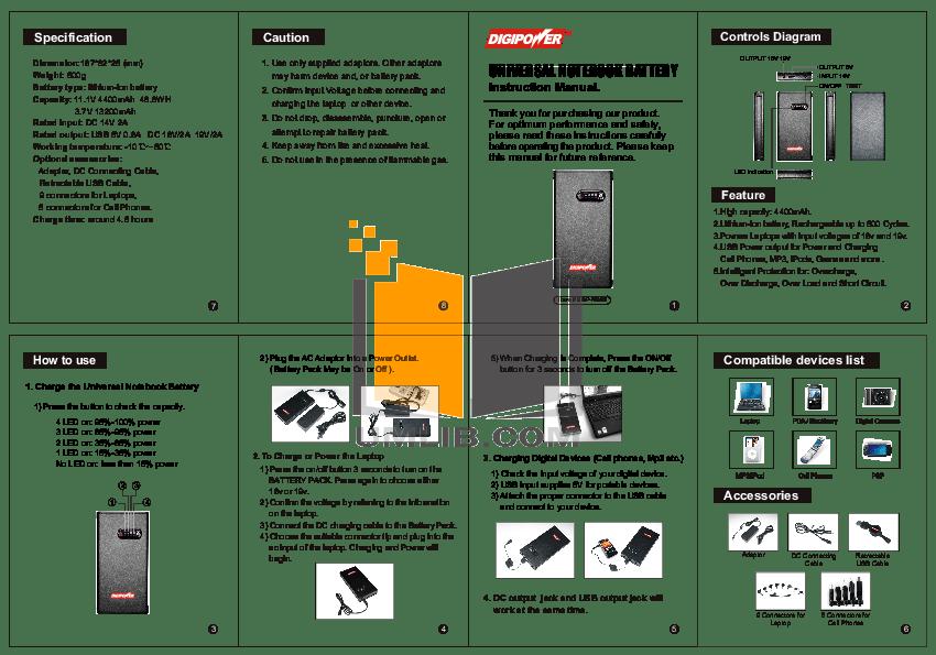 PDF manual for HP Laptop Evo N115