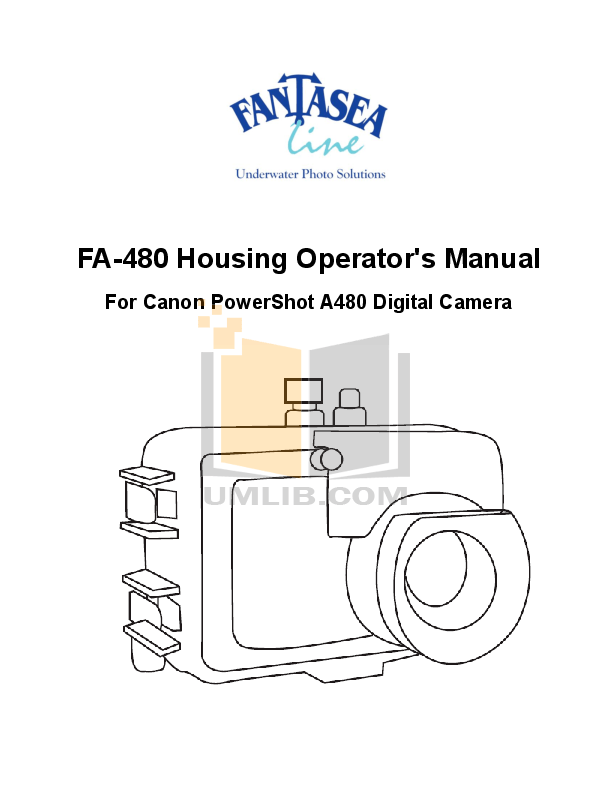 PDF manual for Canon Digital Camera Powershot A480