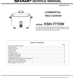 pdf for sharp other ksh 777dw rice cookers manual [ 1275 x 1651 Pixel ]