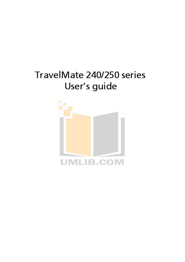 Download free pdf for Acer TravelMate 3260 Laptop manual