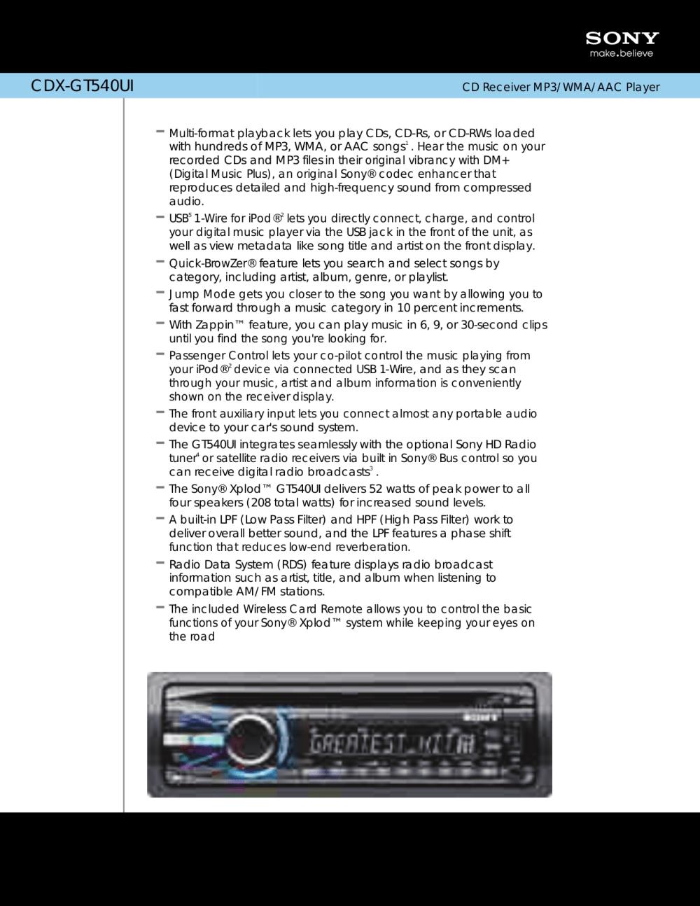 medium resolution of sony cdx gt270s manual retrevo
