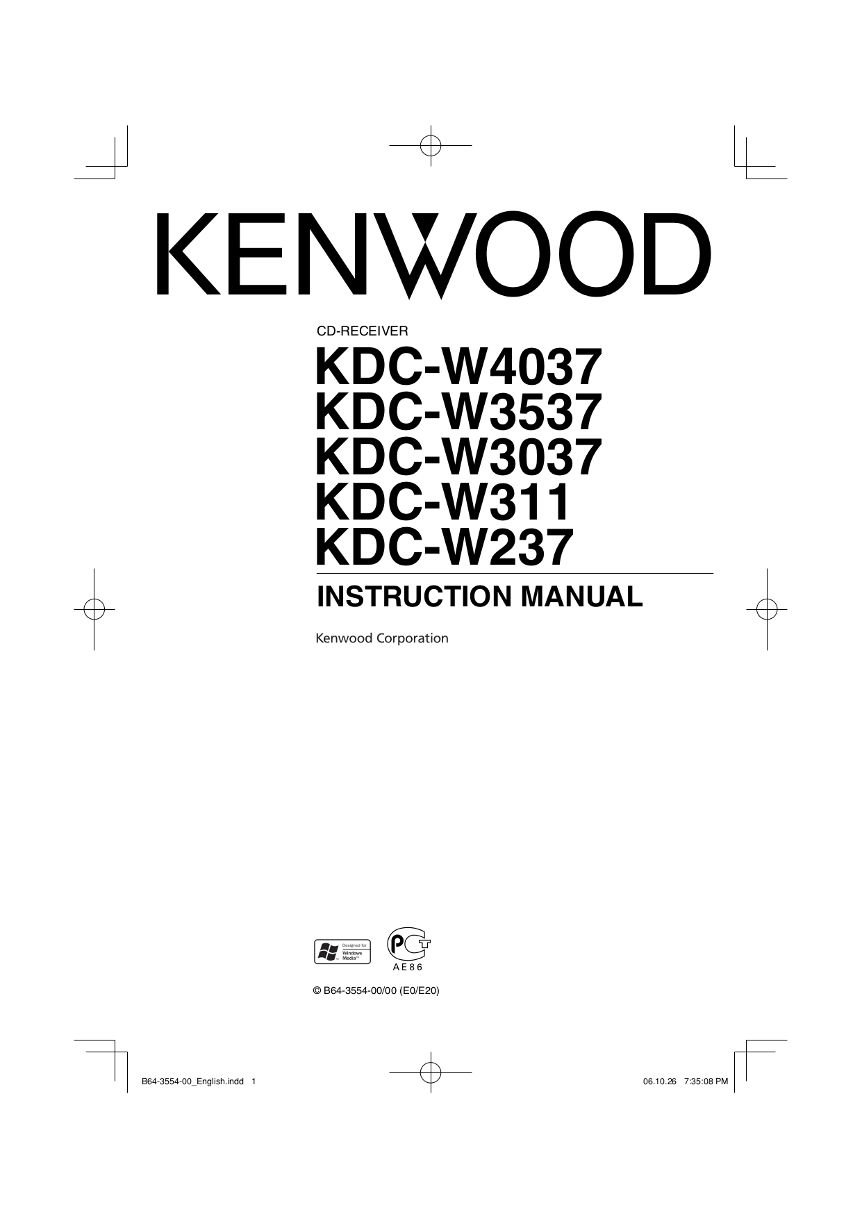 Download free pdf for Kenwood SW-200 Subwoofer manual