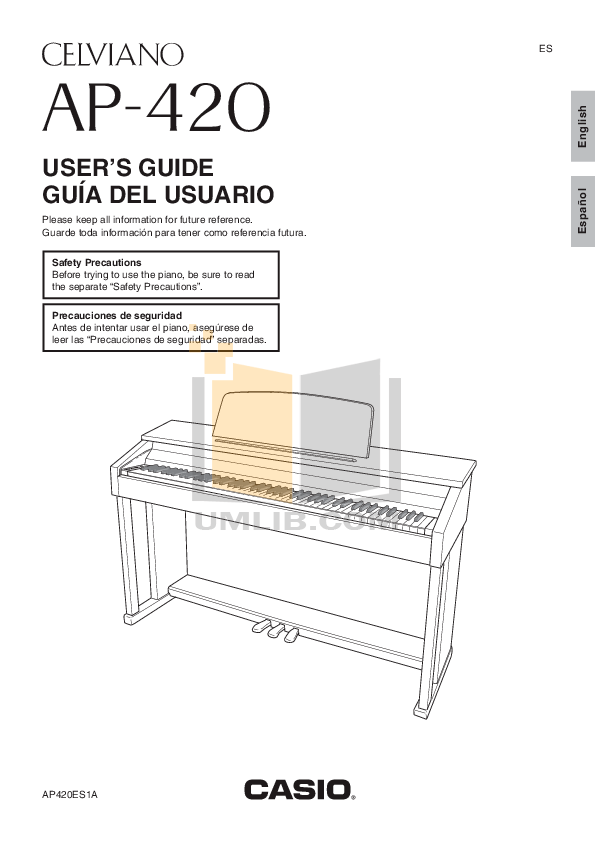 PDF manual for Casio Music Keyboard Celviano AP-80R