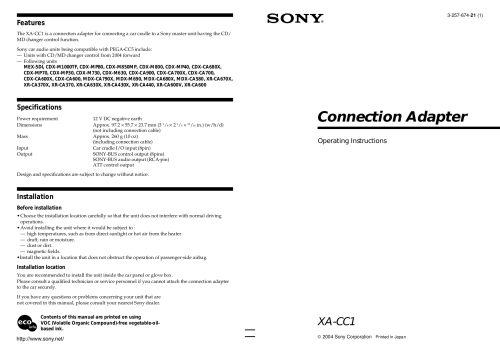 small resolution of pdf for sony car receiver cdx mp40 manual