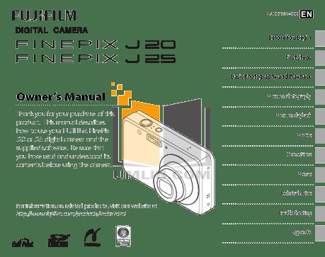 Download free pdf for FujiFilm Finepix J25 Digital Camera