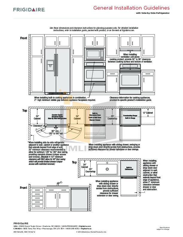 PDF manual for Frigidaire Refrigerator FFSC2323L