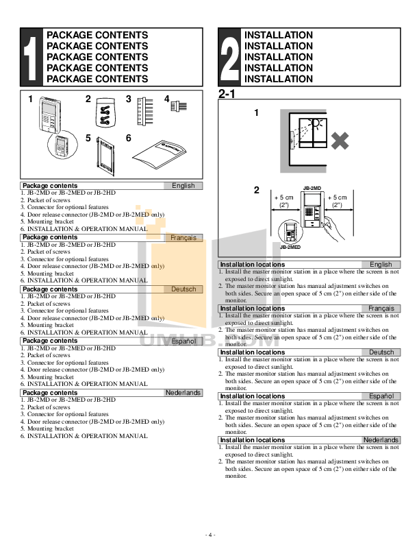 PDF manual for Aiphone Other JF-2MED Intercoms
