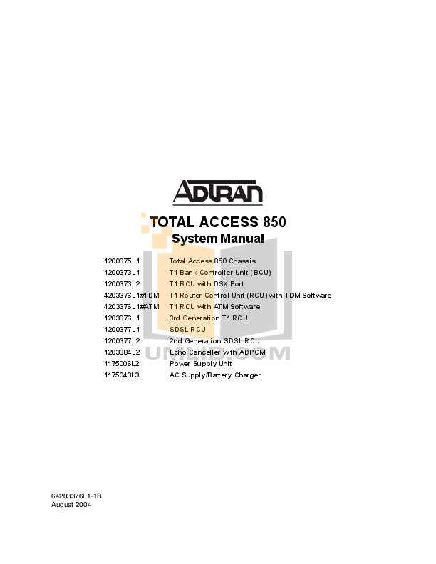 Download free pdf for ADTRAN Total Access 904 Router manual
