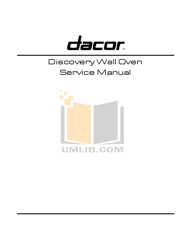PDF manual for Dacor Oven PO130