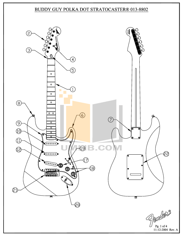 Download free pdf for Fender Buddy Guy Standard