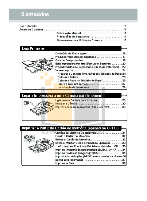 PDF manual for Canon Printer SELPHY CP510