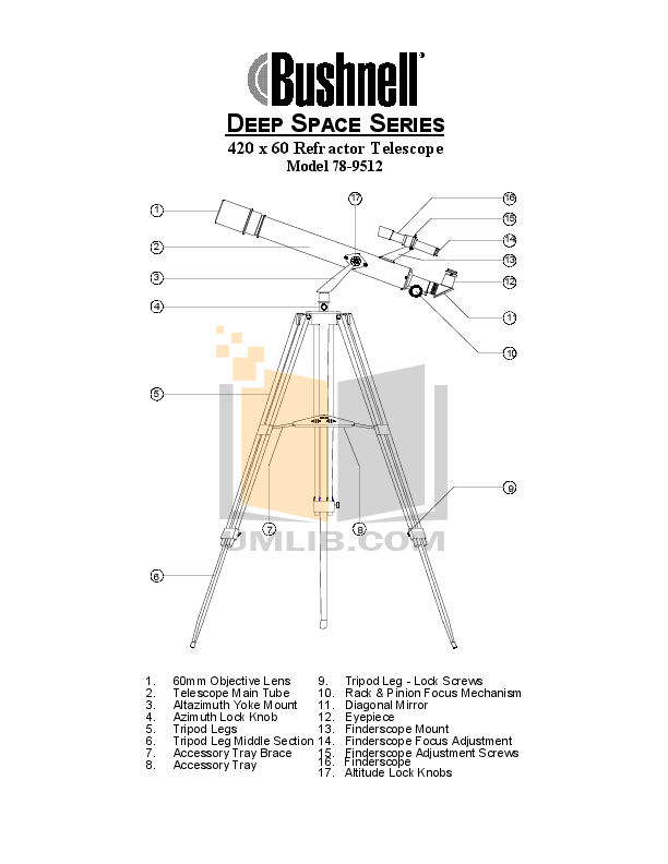 Download free pdf for Bushnell 78-9512 Telescope manual