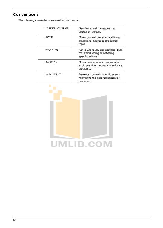 PDF manual for Acer Monitor V223