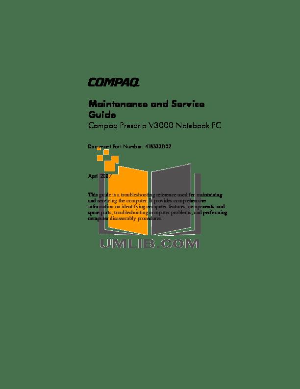 PDF manual for HP Laptop Compaq Presario,Presario CQ41-224