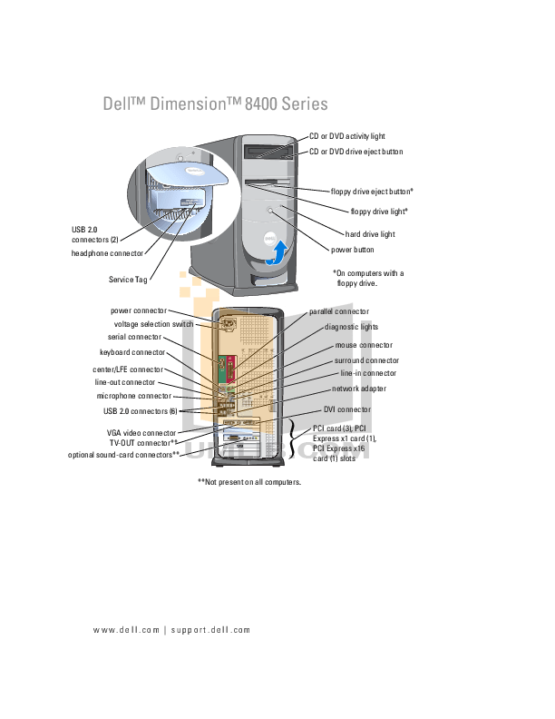 Download free pdf for dell dimension 8400 desktop manual