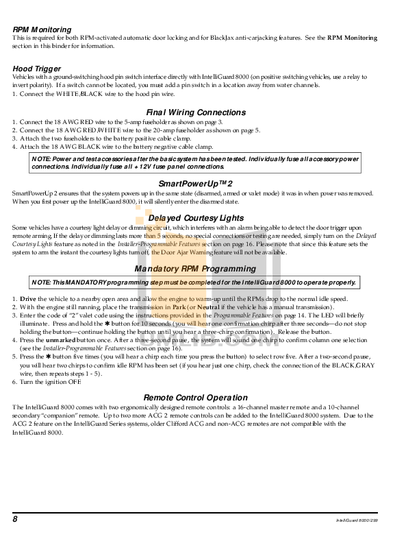 clifford intelliguard 8000 wiring diagram