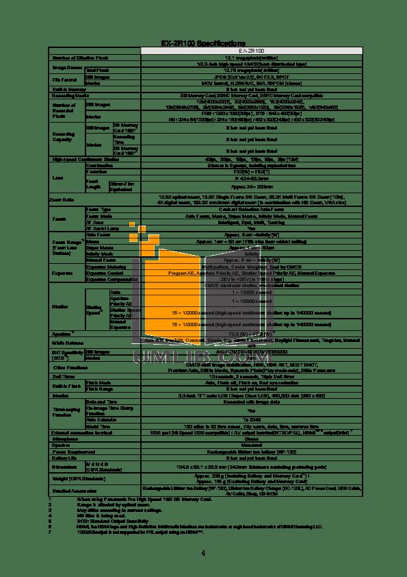 PDF manual for Casio Digital Camera Exilim EX-ZR100