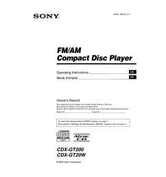 pdf for sony car receiver cdx gt200 manual [ 1273 x 1648 Pixel ]